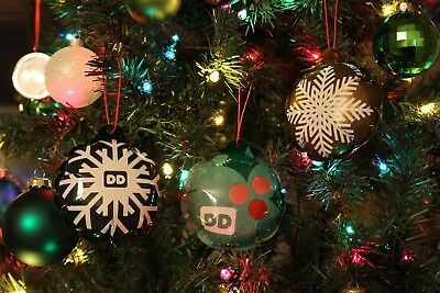Dunkin Donuts 2016 Pop Up Ornaments Set Of 3