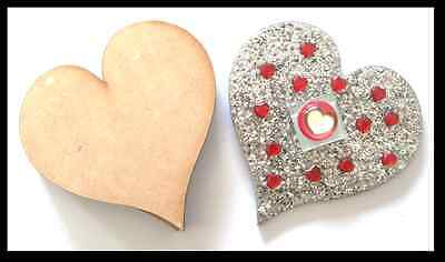 Hearts x 10 - Mdf Laser Precision Cut Outs