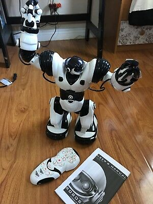 WowWee Robosapien Humanoid Toy Robot with Remote Control White & Black 14""