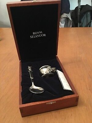 Royal Selangor Pewter Spoon And Egg Cup