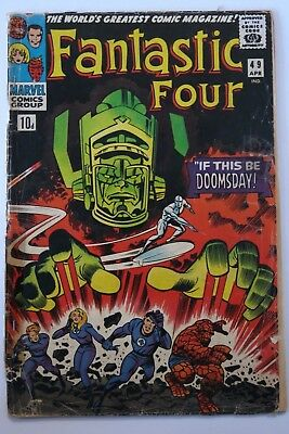 Fantastic Four #49 - 1st app.Galactus - 2nd app. Silver Surfer - Kirby - Marvel