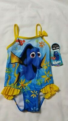 Disney Pixar Finding Dory Infant Girl One Piece Swimsuit, Sz 2T, New