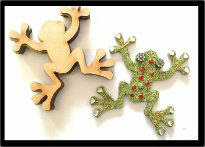 Frogs x 10 - Mdf Laser Precision Cut Outs