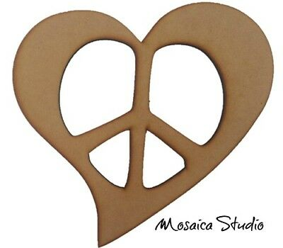 Peace Heart - Wooden Cut-out