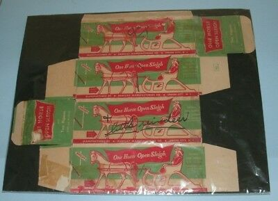 Original cardboard box for Barclay #510, One Horse Open Sleigh w/ Man and Woman