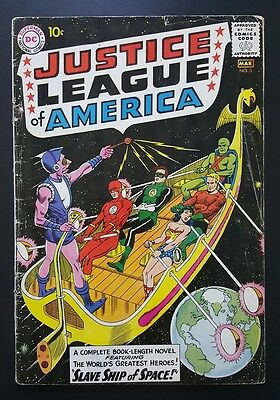 Justice League of America #3 - 1st app.  Kanjar  Ro - (Feb-Mar 1961, DC) - GD/VG