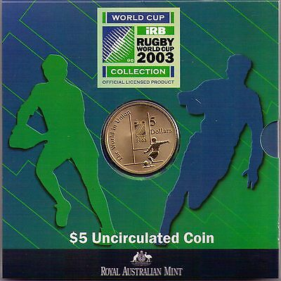 2003 $5 RAM UNC Coin World Cup Rugby Collection