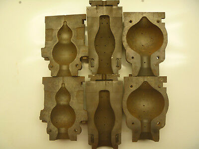 Lot OF 3 VINTAGE CAST IRON  MOLDS GLASS LIGHT BULB Corning Sylvania Osram