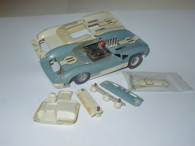 Amt Lola T70 Slot Car With Extra Amt Body