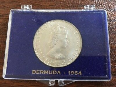 1964 Bermuda One Crown Silver - Uncirculated, and in Display Case