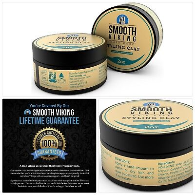 Hair Styling Clay for Men – Best Pliable Molding Cream with Strong Hold Matte