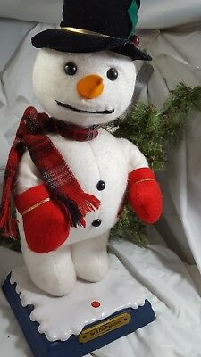 Vtg Gemmy Animated FROSTY Snowman Dancing Singing Orig Box  RARE Mouth Moves!