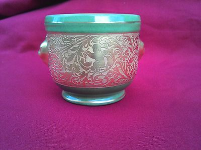 Cache Pot En Porcelaine De Limoges.dore Or Fin.anges.