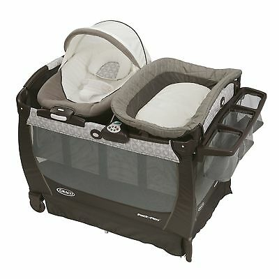 Graco Pack 'n Play Playard Bassinet Changer Snuggle Suite LX Baby Bouncer New