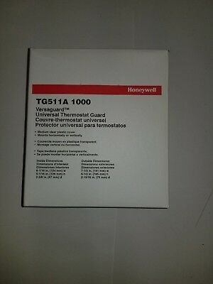 Honeywell NEW TG511A 1000 Versaguard clear thermostat lock guard cover w/key