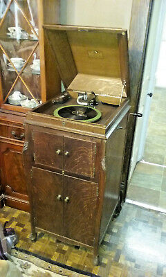 Antique Hand Crank Oak Victor Victrola VV-XIV Phonograph Talking Machine