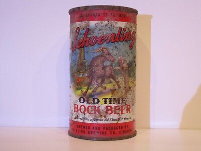 Schoenling Old Time Bock Beer Flat Top Beer Can TOUGH CAN
