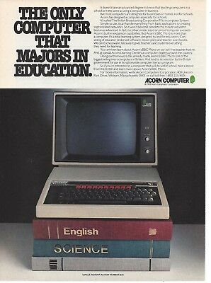 Vintage Ad for Acorn Educational Computers North American market 1980s