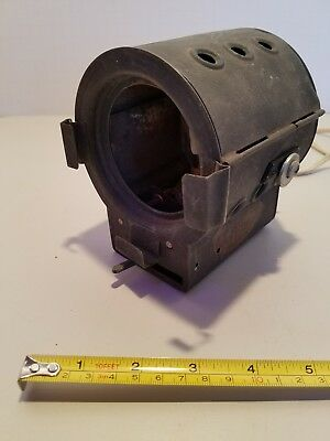 Rare Tiny Industrial Steampunk Vintage  Miniature Theatre Stage Spot Light