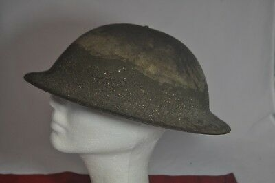 ANTIQUE WWi US Army Helmet SAND/MUD FINISH NO LINER OR STRAP AS IS