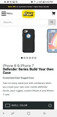 """New! Authentic OtterBox Defender For iPhone 7 & iPhone 8 (4.7"""") Case - No Clip"""