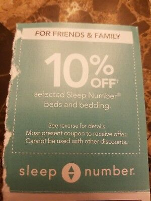 Sleep Number bed 10% off coupon, expires 2-24-18