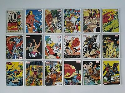 70 YEARS OF MARVEL 70th ANNIVERSARY BASE SET + 9 CARD TRIBUTE SET
