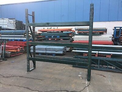 """3 Sections Pallet Rack 20""""d X 8't X 24'l Slotted Style , 4 Uprights & 12 Beams"""