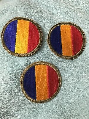 WW2 REPLACEMENT & SCHOOL COMMAND U.S. ARMY INSIGNIA MILITARY PATCH lot of 3