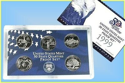 United States Mint 50 State Quarters Proof Set 1999s