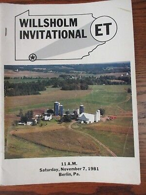 "1981 Holstein Sale Catalog- ""Willsholm"" Berlin, Somerset Co., Pennsylvania"