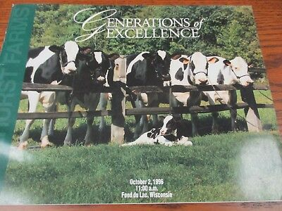 "1996 ""Pinehurst"" Holstein Sale Catalog- Fond du Lac, WI."