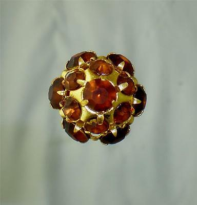 Gorgeous Copper Colored Halfdome Rhinestone Hatpin