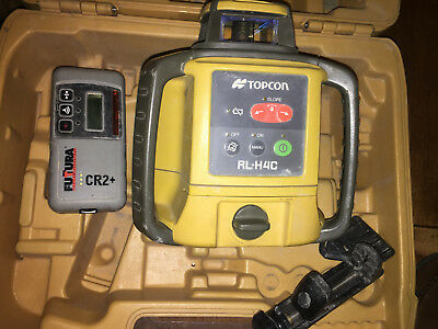 TOPCON RL-H4C LASER LEVEL with CR2+ Receiver and Case