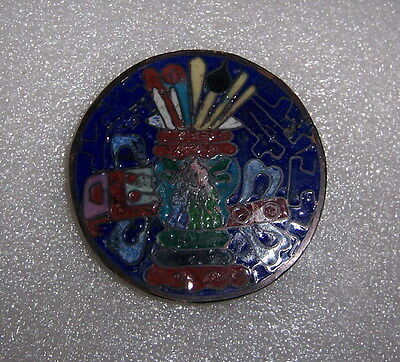 The ancient relic copper enamel button