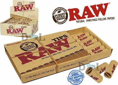 Genuine Raw Pre-Rolled Filter Tips Roaches Paper Natural Rolling Smoking Tip