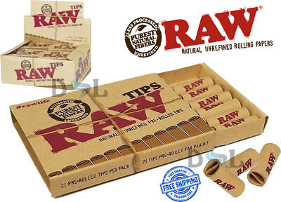 Raw Pre Rolled Tips Filter Roaches Paper Natural Rolling Smoking Tip Perfecto
