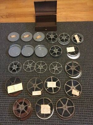 Mixed Lot of Vintage 8 mm & Super 8 Home Movies Film Reels Canister & Metal Case