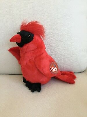 TY ~ MAC THE CARDINAL TY BEANIE BUDDY 12 by Ty