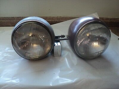 A Pair Of 1936 1937 1938 Plymouth Dodge Car Pickup Headlight Assemblies