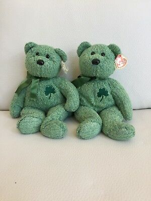 Ty Beanie Buddy Shamrock the Extra Large Bear by Beanie Buddies