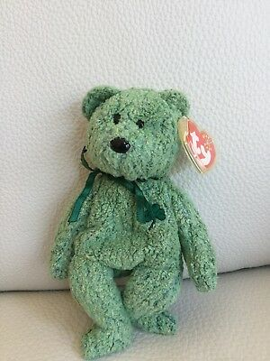 Ty Beanie Babies - Shamrock the St Patricks Day Bear RARE New