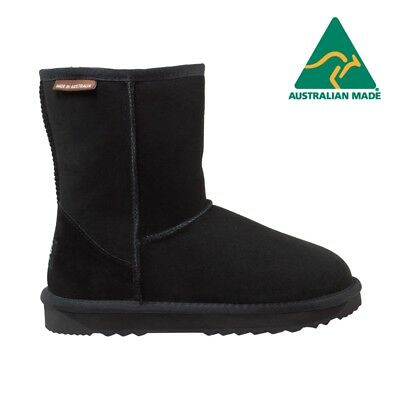 UGG AUSTRALIAN MADE, Merino Sheepskin, Classic 3/4 Boots, Memory Foam, Black, Co