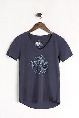 United By Blue Women's Mountains Are Calling Tee, Navy, S