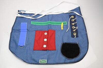 Posey 7400 Medical Cognitive/Dexterity Therapy Activity Apron - New (Alzheimers)