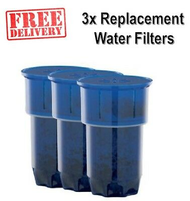 3 Pack Heller Water Filters Replacement for Heller Lenoxx AquaPort BRAND NEW