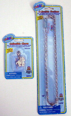 Webkinz Collectible UNICORN CHARM & Necklace Unused Codes/Factory Sealed FreeShp