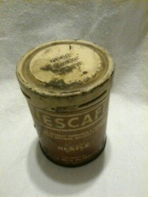 Vintage NESCAFE 4oz Coffee Can 1930's advertising tin