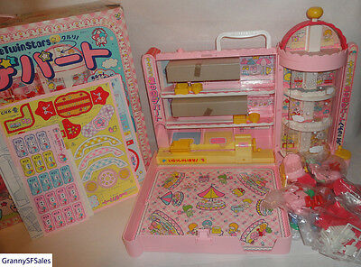 Vintage 1976 Sanrio Kiki Lala Little Twin Stars Department Store Playset New
