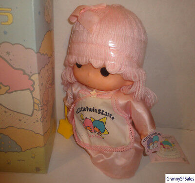 Vintage 1976 Sanrio Little Twin Stars Lala Doll About 10 Inches in Height Unused
